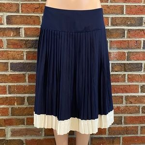 Lauren Ralph Lauren 100% Silk Pleated Midi Skirt 4